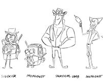 Explorers:Character design