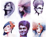 watercolor portrait & illustration