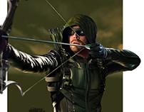 digital painting Green Arrow
