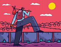 Migration illustration set