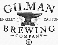 Gilman Brewing Brand Identity Rendered by Steven Noble