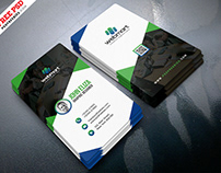 Professional Vertical Business Card Design PSD