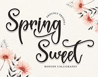 FREE | Spring Sweet - Modern Calligraphy