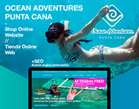 Web / shop online for Ocean Adventures