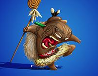 Amorfized Maori warrior