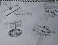 Galaxy Lighting Logo sketches