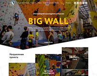 Website «BigWall». Climbing wall