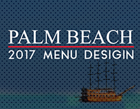 Palm Beach 2017 Restaurant Menu Design Free Mock-Up