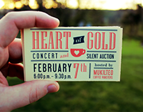 Heart of Gold Fundraiser Collateral