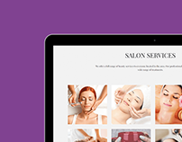 Tablet View - Salon WordPress Theme
