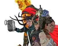Thor Ragnarok Vector