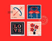 Valentine's Stamps