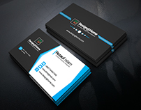 Black & Blue Business Card