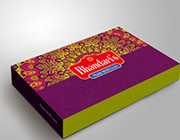 Sweets box packing design | traditional mithai box