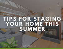 Tips For Staging Your Home This Summer