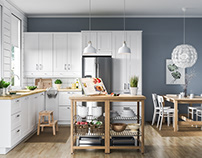 Scandinavian kitchen interior