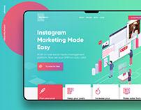 Rectangle | Landing page design