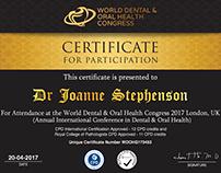 Conference certificate design