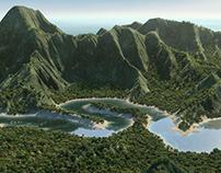 3D Landscape - Tahiti