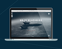 WEB DESIGN // sr-71 blackbird website