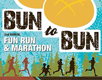 "Poster Design ""Bun to Bun"" Fun Run and Marathon"