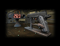Colt 1911 Airsoft 3D test shoot animation