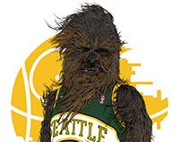 Chewbacca / Seattle Sonics Mashup