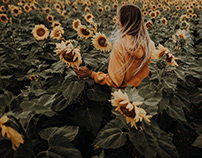 Tali and the sunflowers