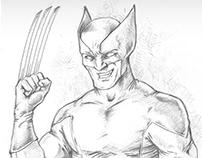 Super Hero fan art sketches
