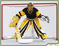 3D Model: Hockey Goalkeeper HQ