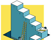 isometric illustration for The Guardian sport section.