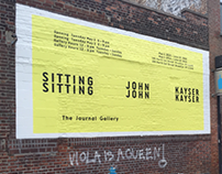 Mural/sign painting for The Journal Gallery- May 2016
