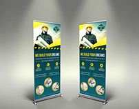 Construction Business Signage Rollup Template Vol.4