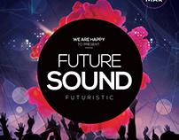 Future Sound - Futuristic Free PSD Flyer Template