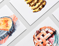 Identity and illustrations for Good Bakery