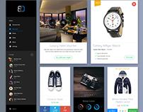 Sale Stats & Shopping Retina UI Kit