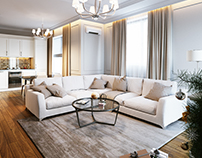 Neo classic style apartment (Moscow)