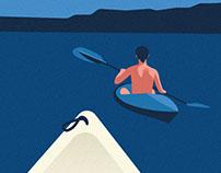 Summer Breeze Blue -  Travelposter serie