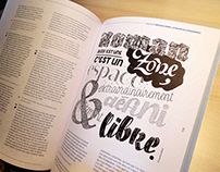 Tind magazine | Custom Lettering