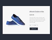 Daily UI | #012 | E-Commerce Shop