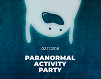 Paranormal activity party poster