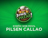 Diseño web movil | Pilsen Callao