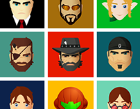 Illustrated game characters