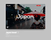 Japan Travel concept UI