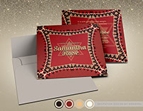 Red Retro Lace | Invitation Suite