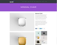 Single Portfolio Post - Zenith WordPress Theme