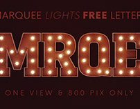 Marquee Lights - Free 3D Lettering