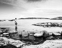 Boy on island