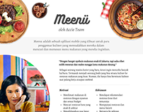 Meenu: Simple App for Foodie