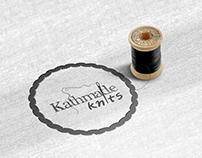 Logo and business cards for Kathmade knits